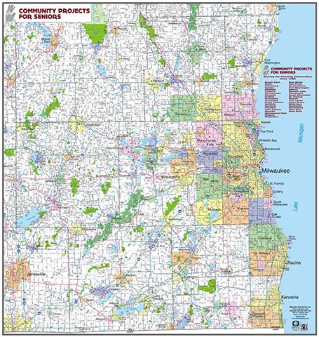 Milwaukee Map - Custom Maps