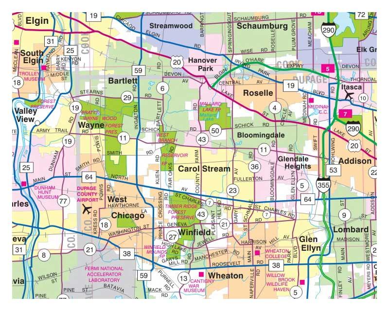 Milwaukee State Map.Milwaukee Map Illinois Folded Maps